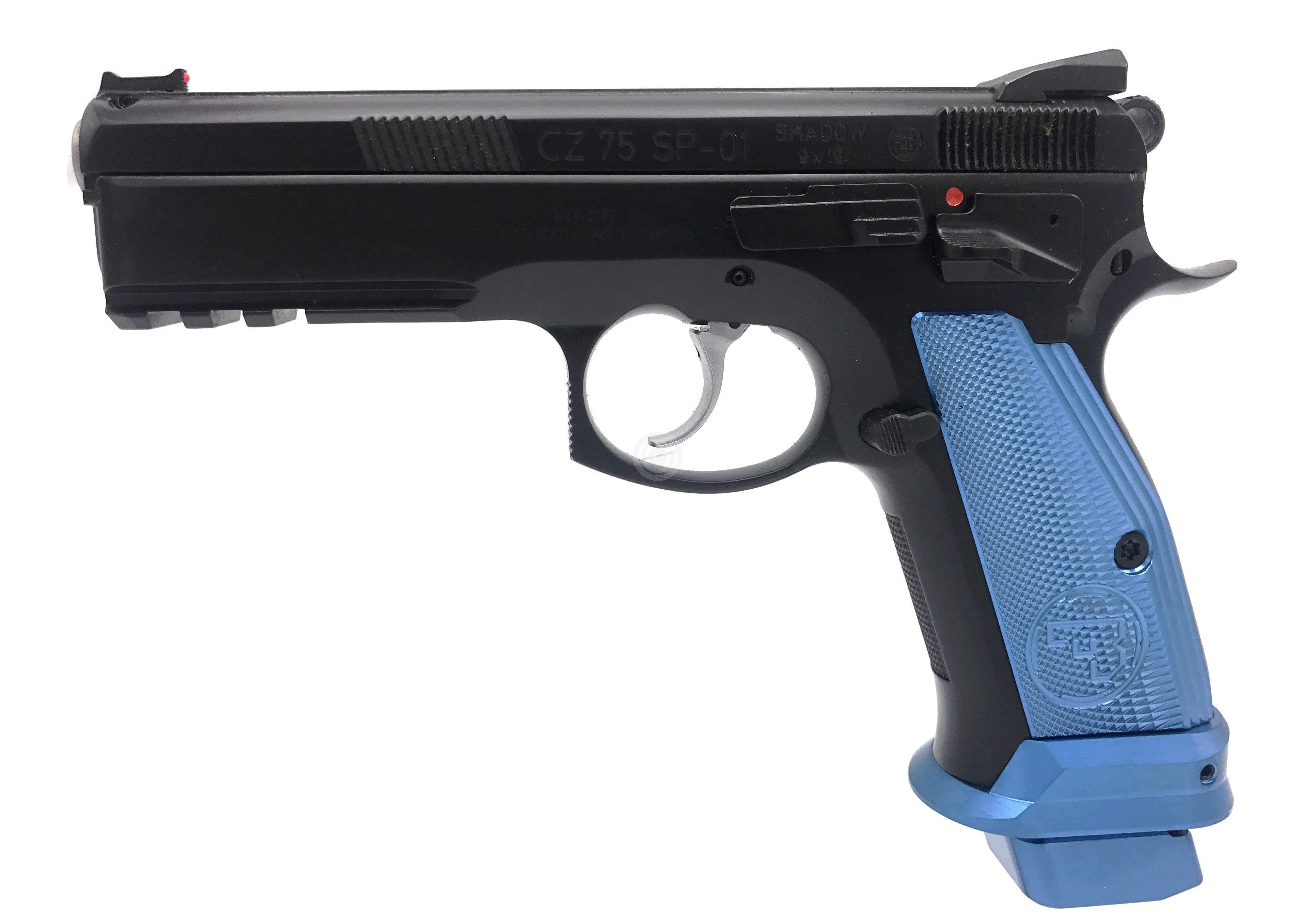 Pistolet CZ 75 SP01 Shadow French Mamba Bleu calibre 9x19