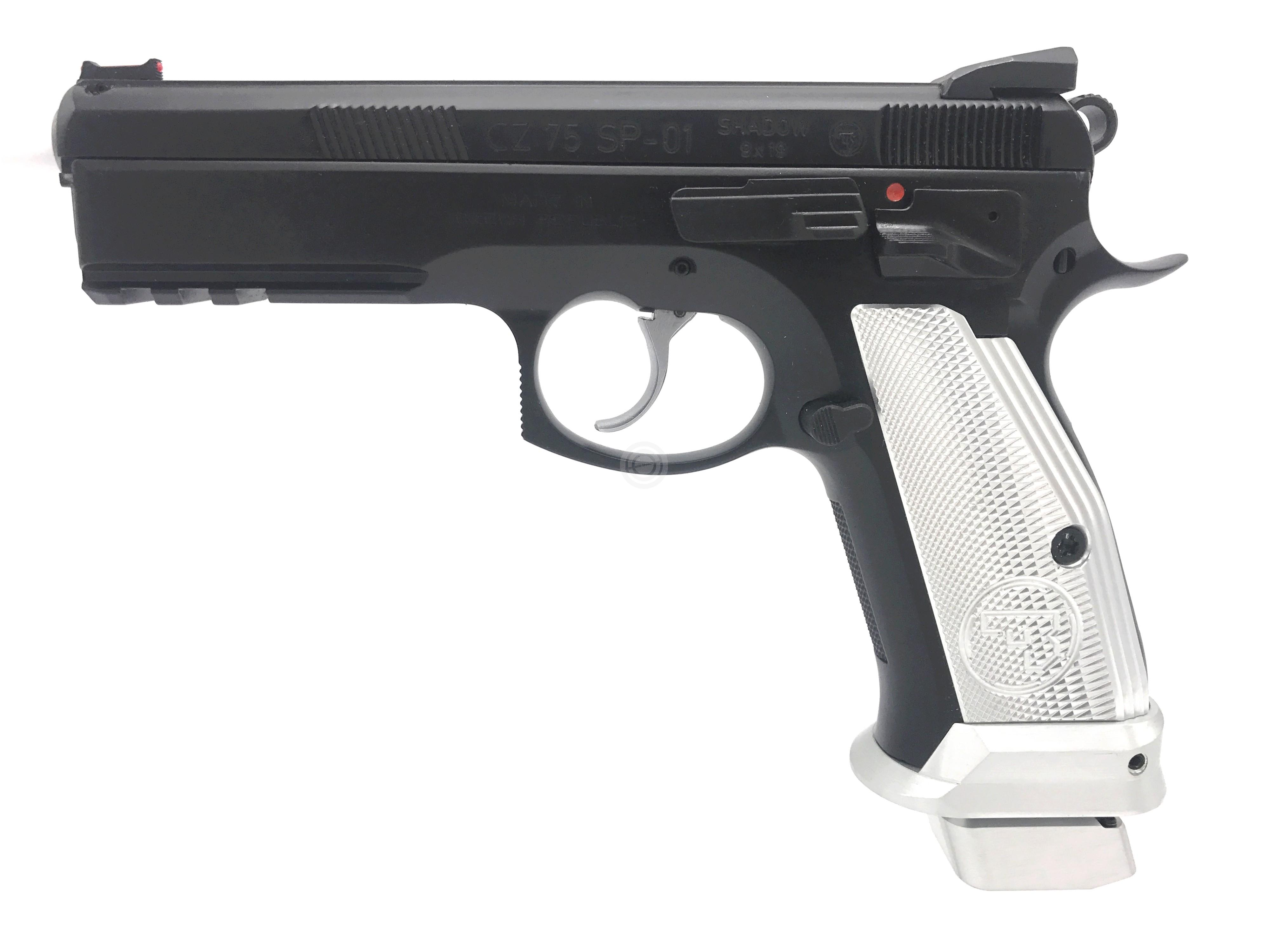 Pistolet CZ 75 SP01 Shadow French Mamba Silver calibre 9x19