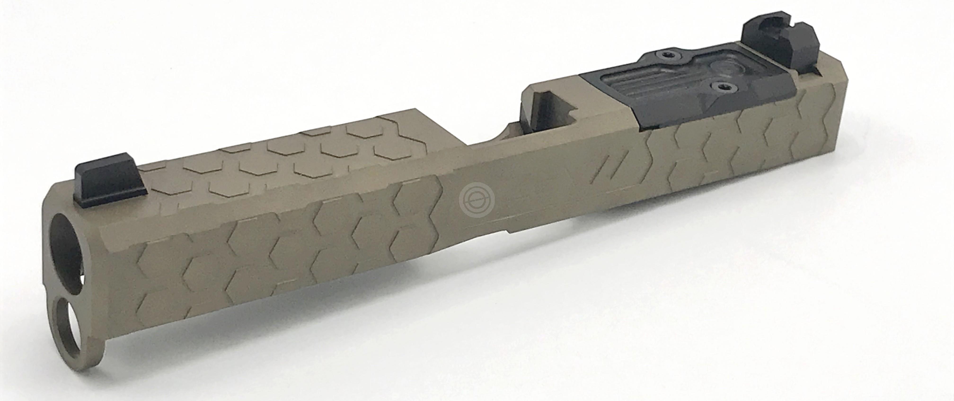 Culasse match ZEV Glock 17 gén.4 HEX FDE
