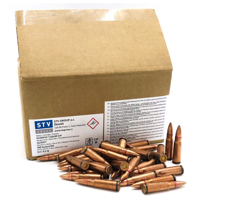 Munitions de surplus STV FMJ cal.7,62x39 (500 cartouches)