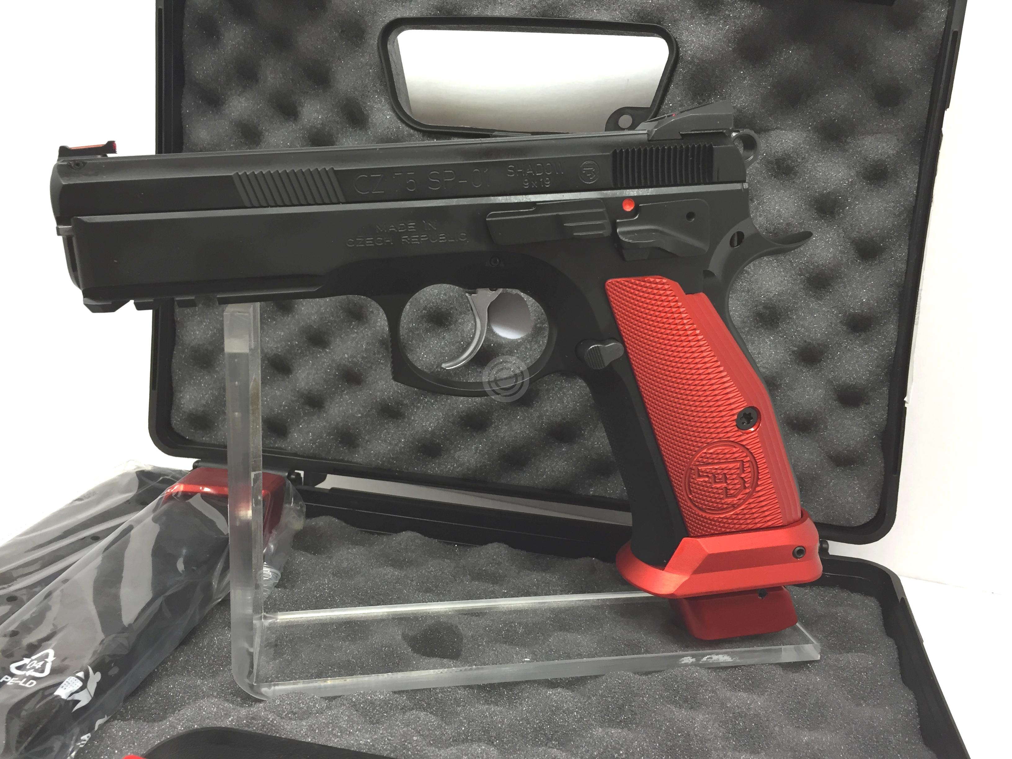 Pistolet CZ 75 SP01 Shadow French Mamba Rouge calibre 9x19