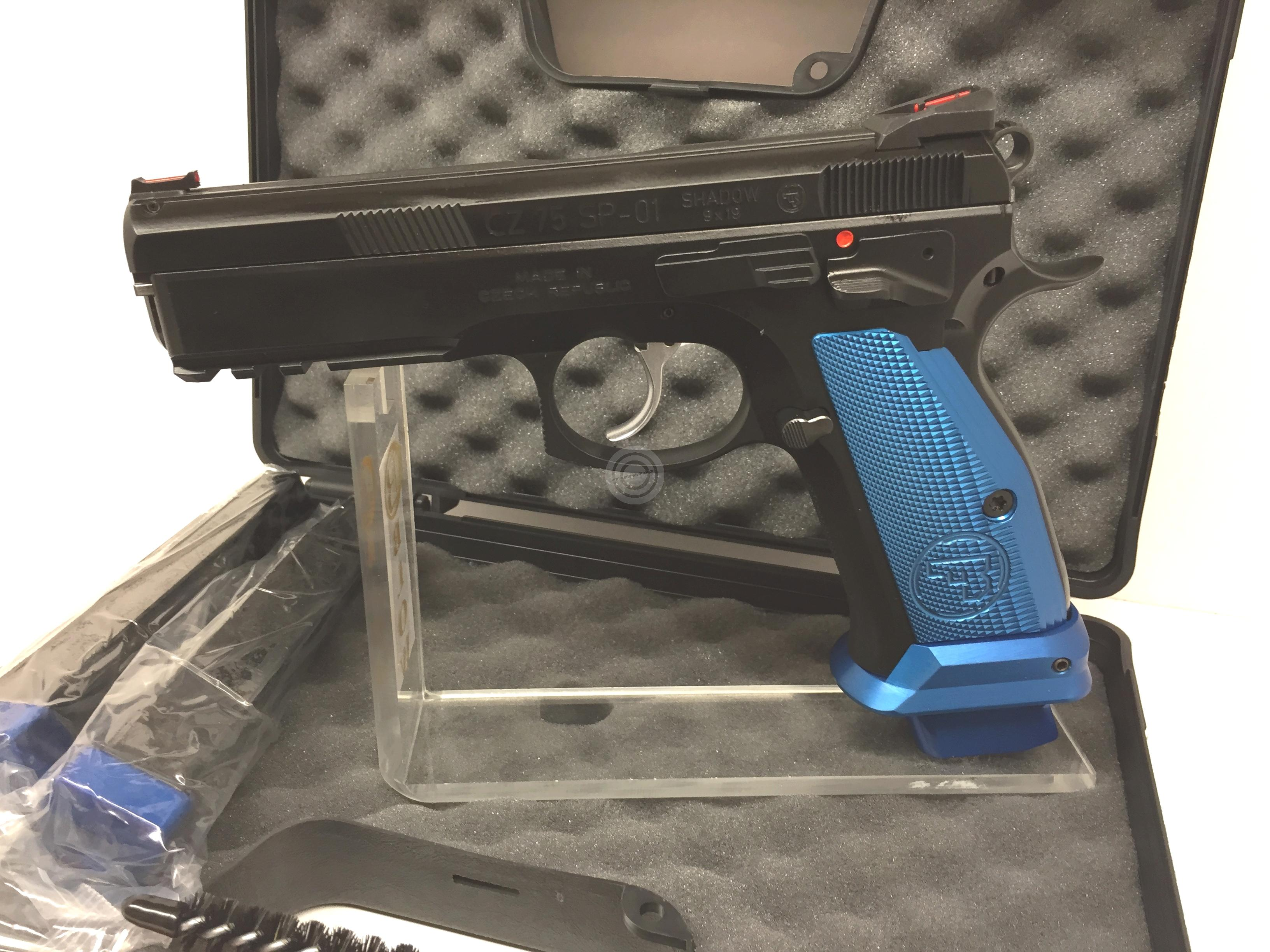 Pistolet CZ 75 SP01 Shadow French Mamba Bleu calibre 9x19