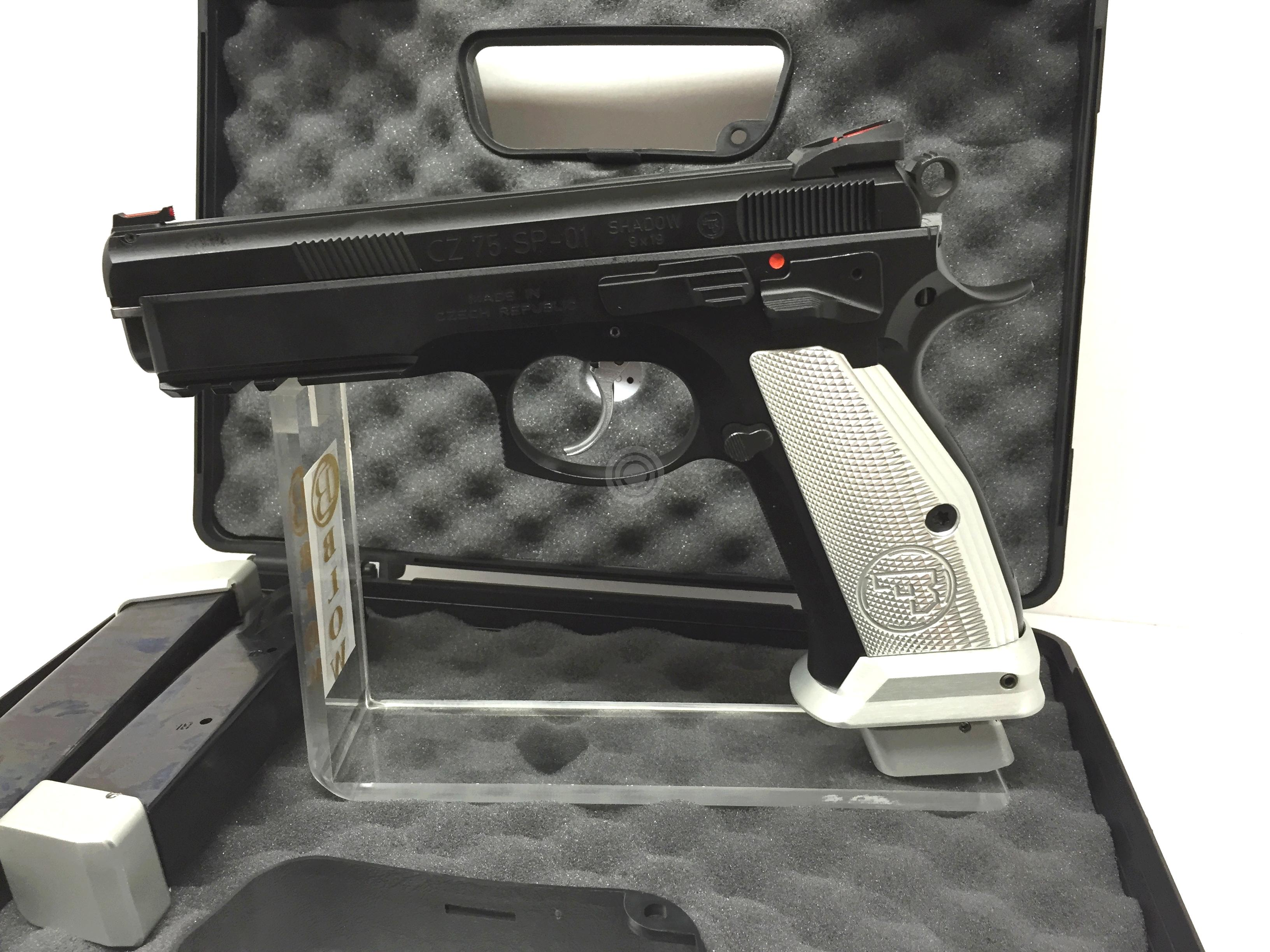 Pistolet CZ 75 SP01 Shadow French Mamba Silver calibre 9x19