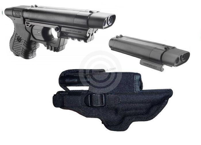 ''PACK'' Pistolet JPX Noir LASER (�tui cordura + recharge active)