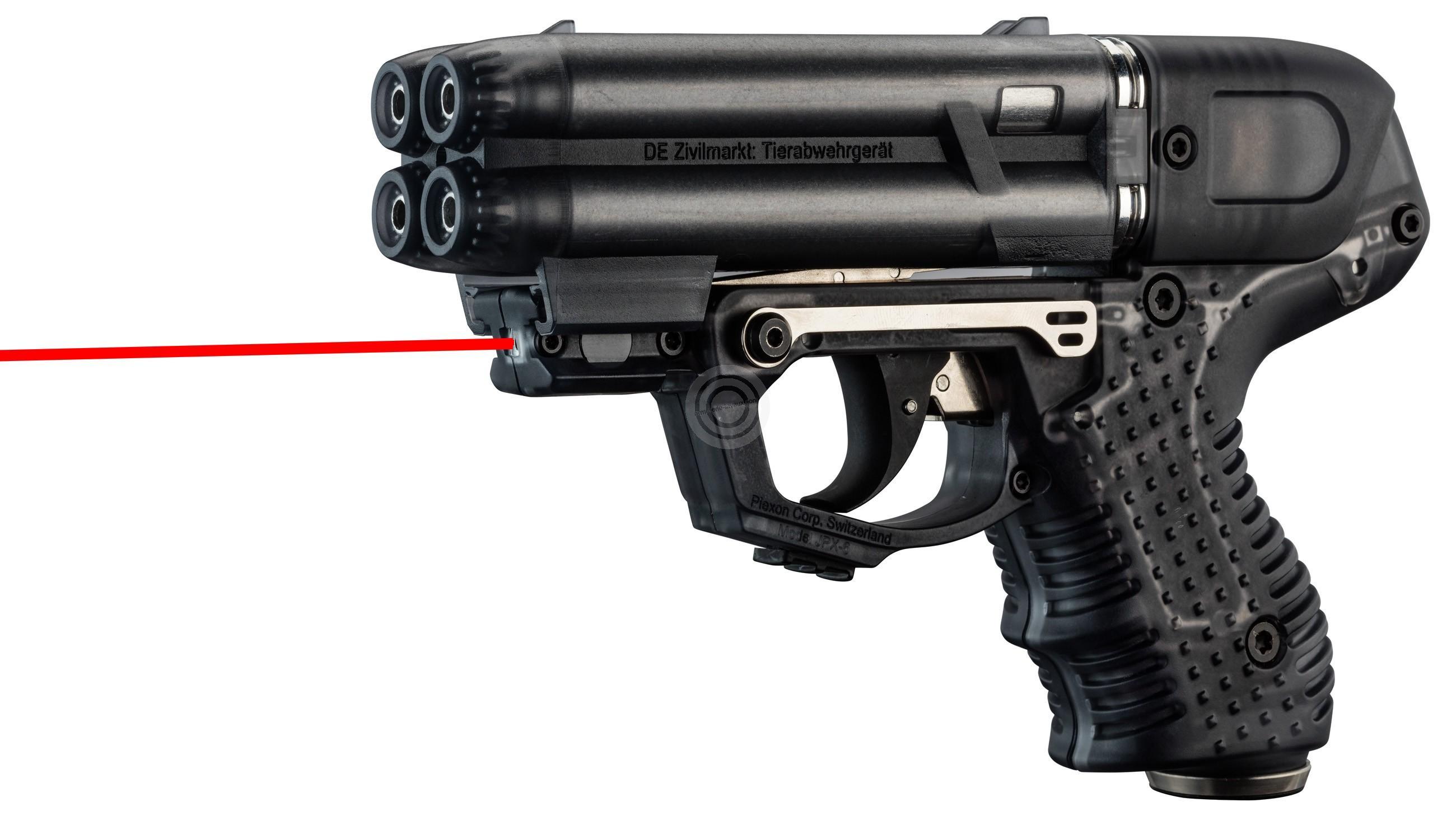 Pistolet 4 coups Jet Protecteur JPX 6 Laser