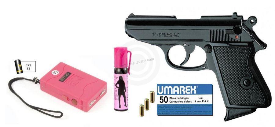 Pistolet KIMAR Lady Bronzé cal.9mm ''Kit LADY''