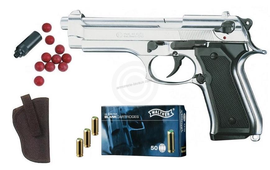 Kit Defense Pistolet KIMAR 92 Auto Nickelé cal.9mm