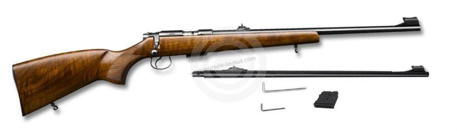 Carabine 22LR CZ 455 Luxe et 1 canon 17 HMR
