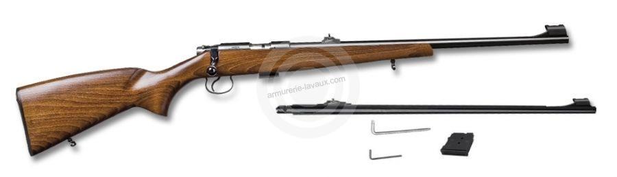 Carabine 22LR CZ 455 Standard et 1 canon 17 HMR