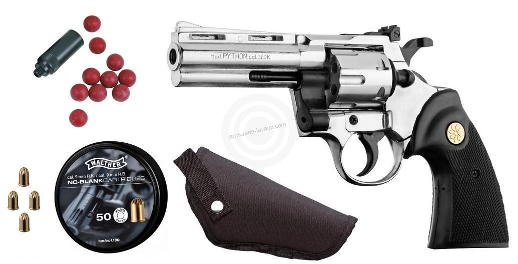 Kit défense Revolver KIMAR Python Nickelé cal.9mm R