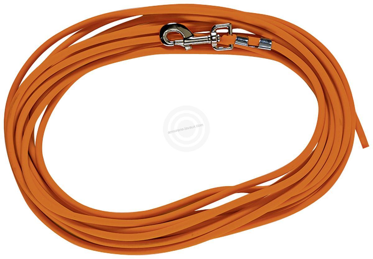 Longe BIOTHANE FLUO Nylon renforcée (cable de 10 mètres)