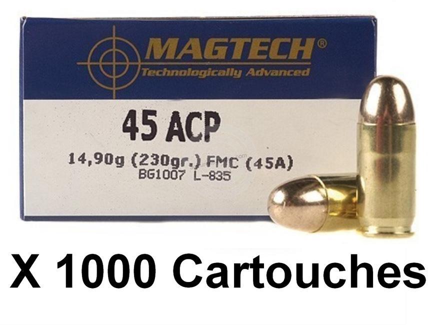 MAGTECH cal.45 ACP FMJ /1000 cartouches