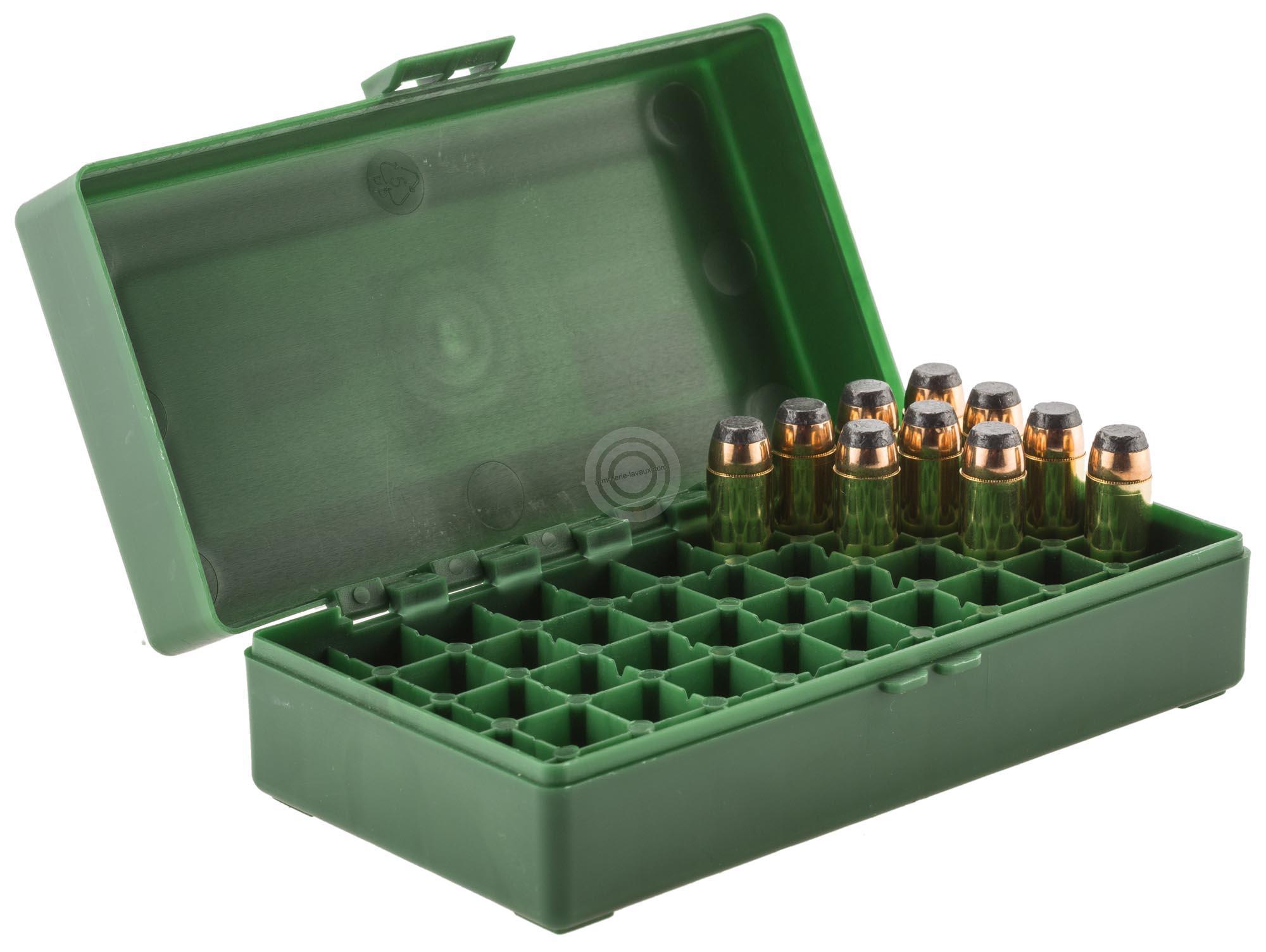 Boite à munitions MEGALINE cal.44 Mag /50