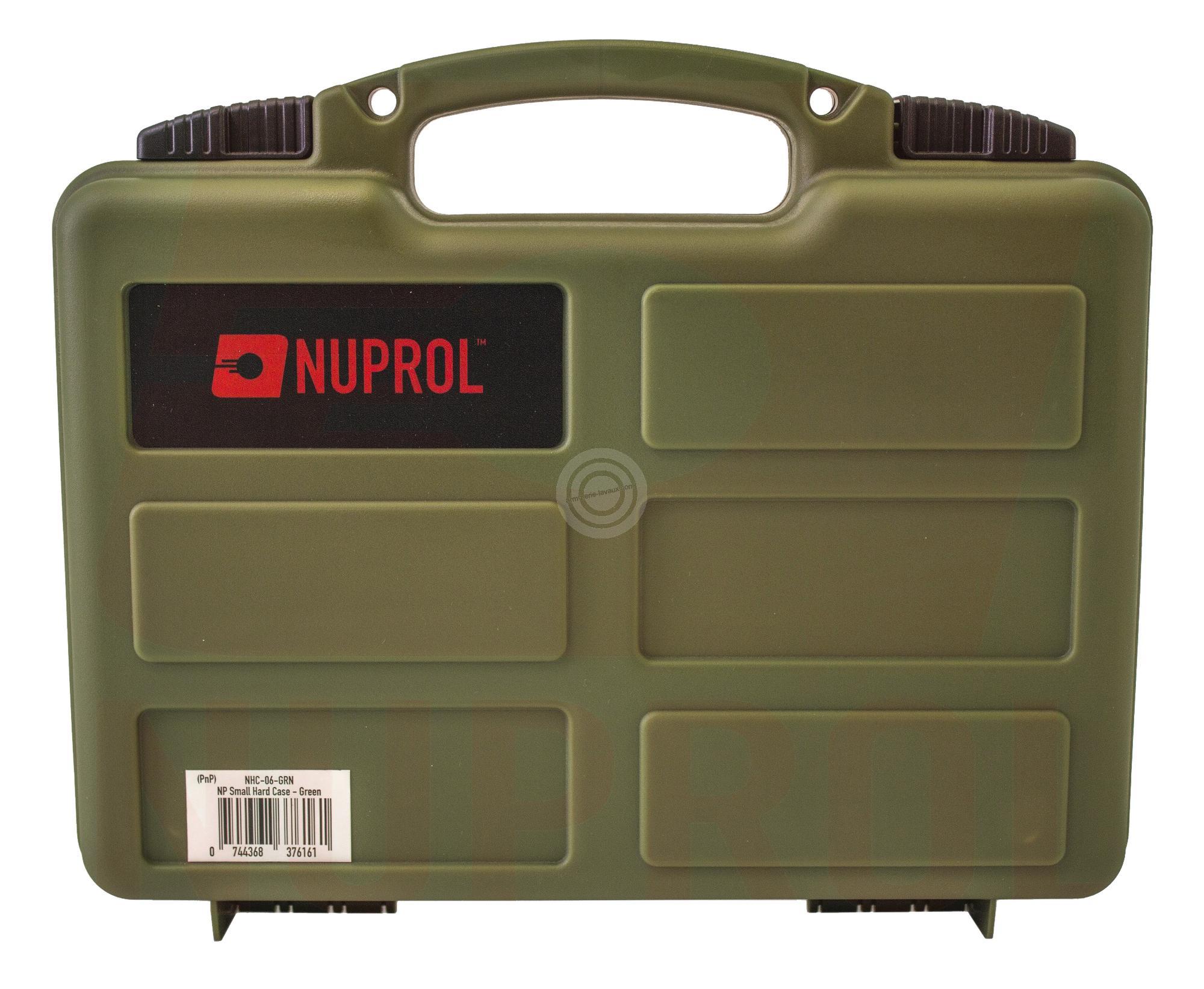 Mallette FDE pour armes de poing 31x25x8 cm NUPROL (mousse prédécoupée)