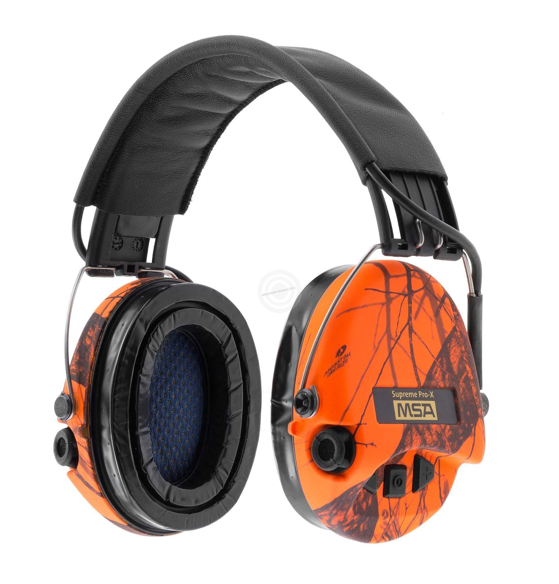 Casque électronique MSA Suprême Pro-X Orange