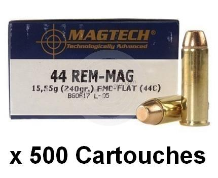 MAGTECH cal.44 Rem MAGNUM FMJ /500 cartouches