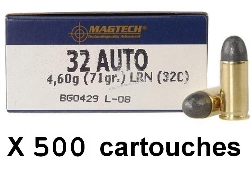 MAGTECH cal.7,65 mm (.32 Auto) LRN /500 cartouches