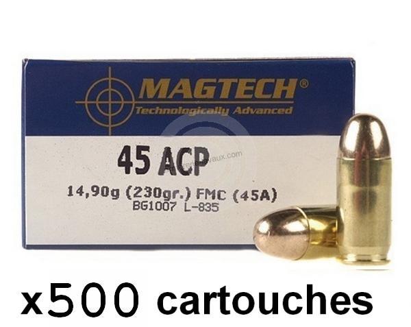 MAGTECH cal.45 ACP FMJ /500 cartouches