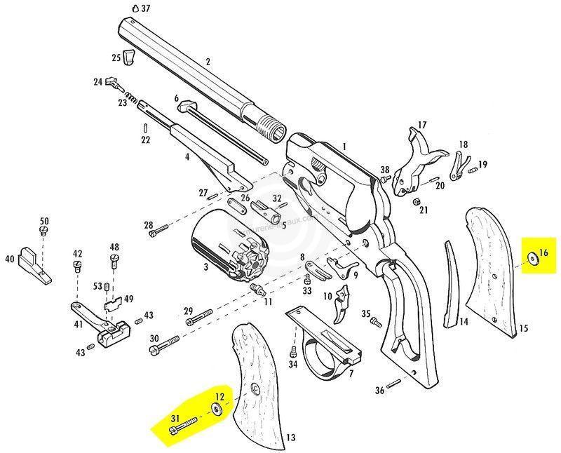 Oeillets et vis pour plaquettes PIETTA Remington