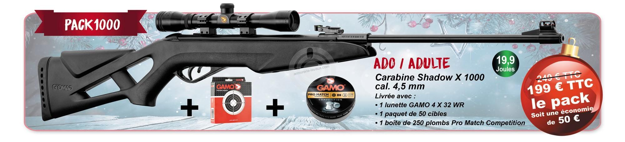 Carabine GAMO SHADOW X 1000 Adulte cal.4,5mm