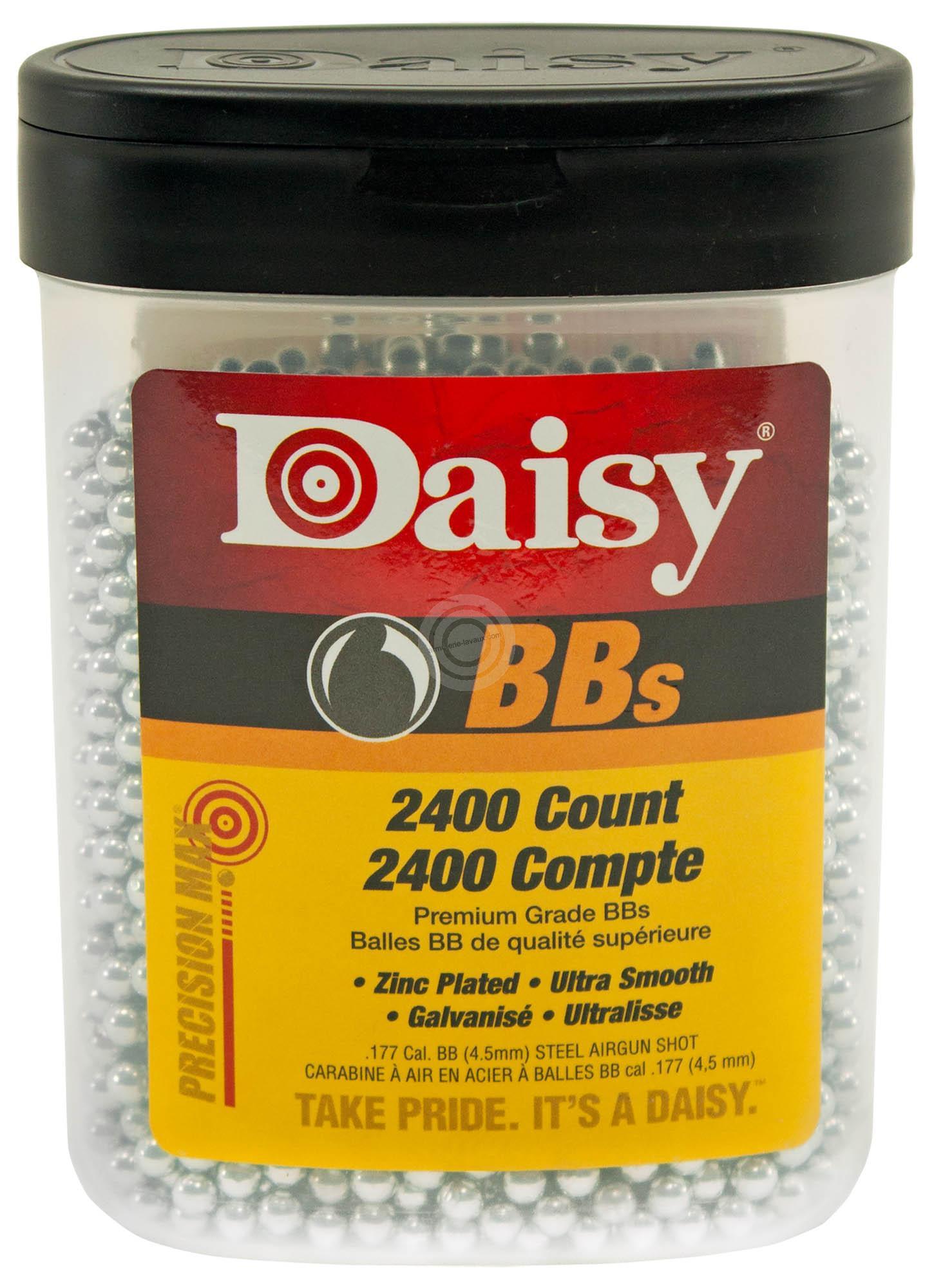 Plombs billes 4.5 Ronds DAISY Acier BBS (2400 plombs)