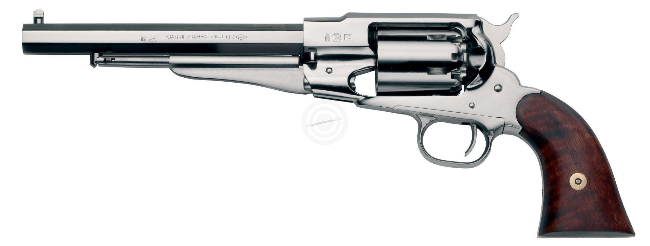Revolver à Poudre Noire Pietta REMINGTON 1858 Texas Nickelé cal.44