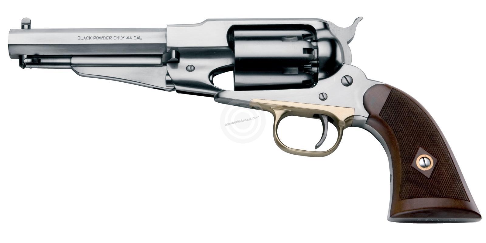 Revolver à Poudre Noire Pietta REMINGTON 1858 ARMY Inox Sheriff cal.44