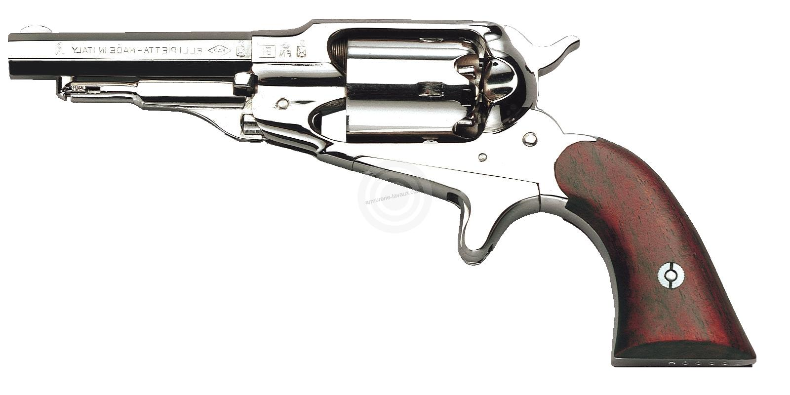 Revolver à Poudre Noire Pietta REMINGTON 1863 Pocket Laiton Nickelé Cal.31