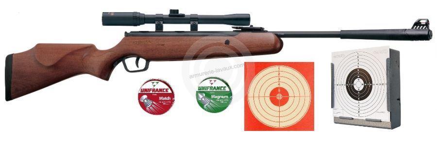 Carabine STOEGER X5 COMBO Bois '' lunette LYNX 4x20 '' 'PACK CERISE'