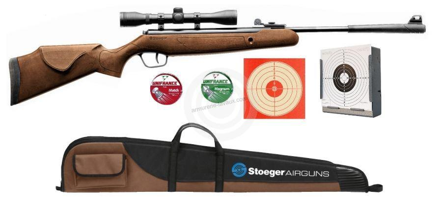 Carabine STOEGER X5 COMBO Bois lunette BAUER 4x32 et housse 'PACK LUXE'