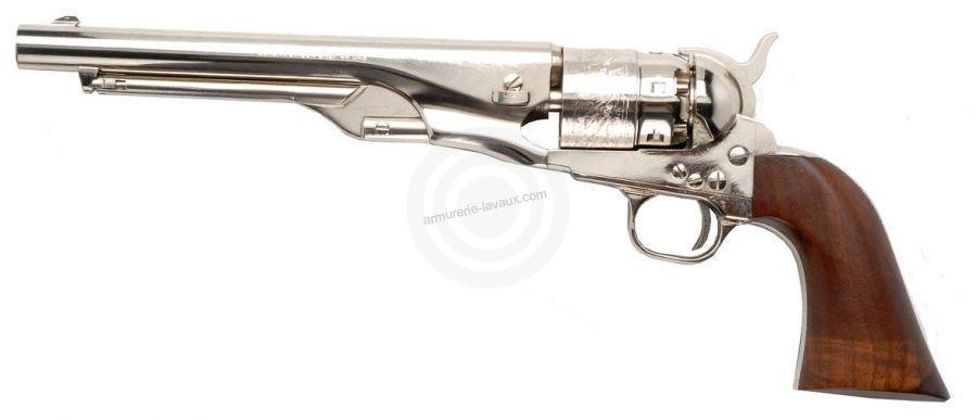 Revolver à Poudre Noire Pietta COLT Army Acier Nickelé 1860 cal.44