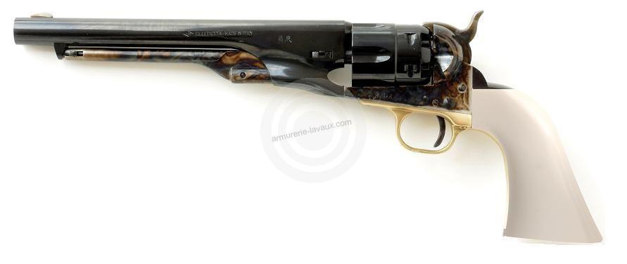 Revolver à Poudre Noire Pietta COLT Army 1860 cal.44 (crosse ivoirine, canon bronzé)