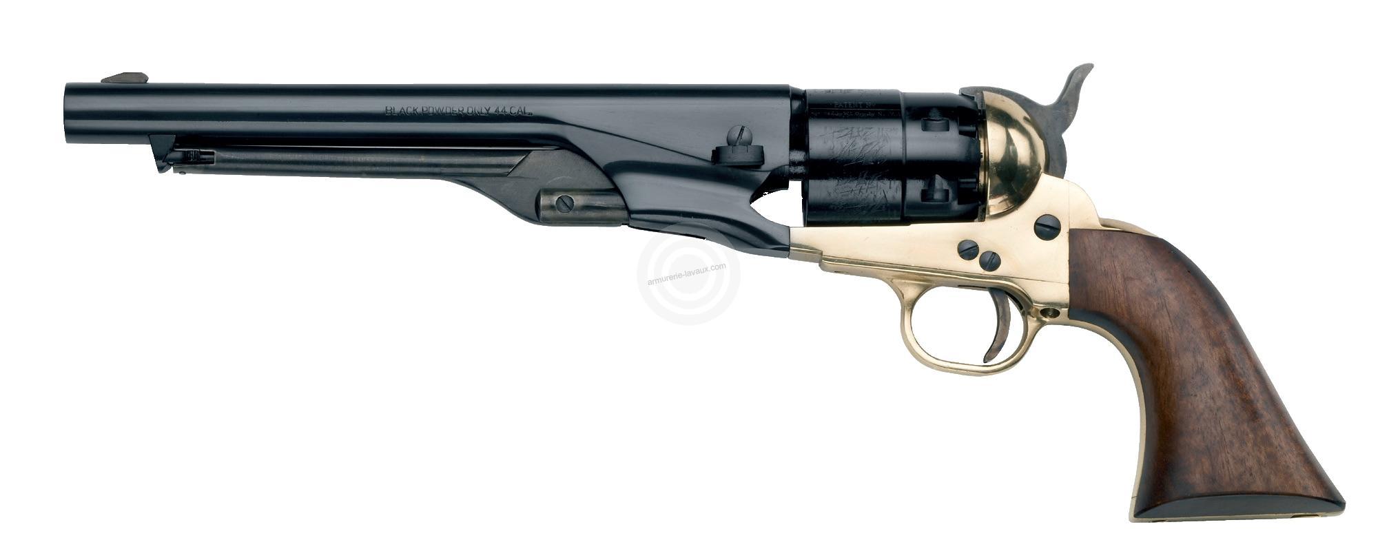 Revolver à Poudre Noire Pietta COLT Army Laiton 1860 cal.44