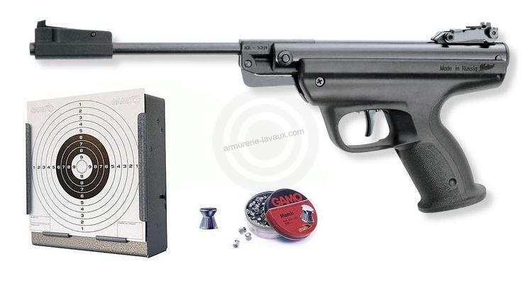 pistolet plombs baikal izh mp 53m gun set armes de loisirs sur armurerie lavaux. Black Bedroom Furniture Sets. Home Design Ideas