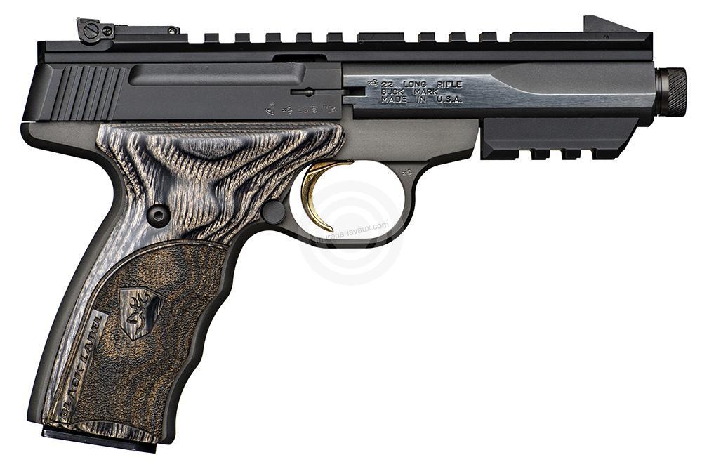 Pistolet BROWNING Buck Mark BLACK LABEL Suppressor Ready cal.22Lr