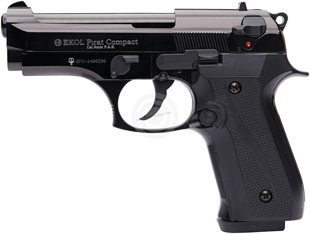 Pistolet d'alarme EKOL Firat Compact mod.92 Auto Bronzé Cal.9mm PA