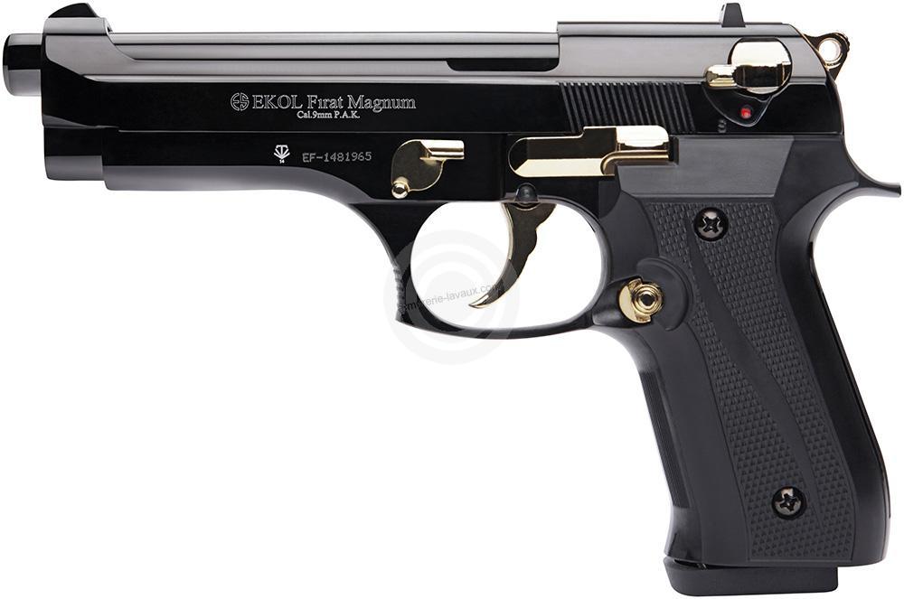 Pistolet EKOL Firat Magnum mod.92 Auto Bronzé Gold Cal.9mm PA