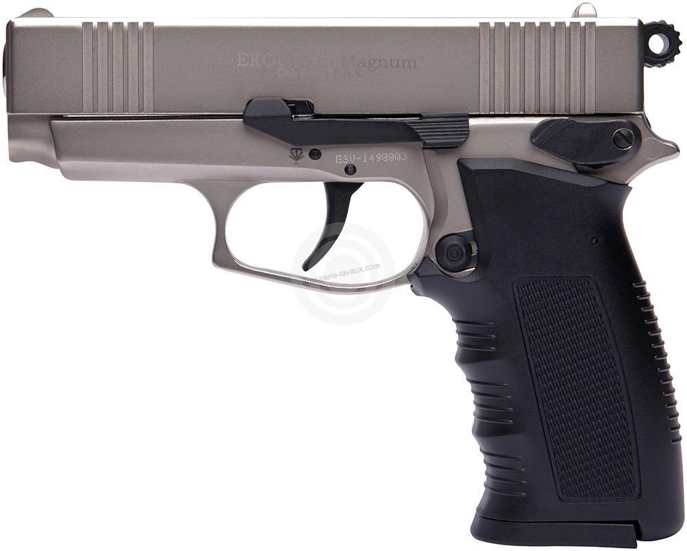 Pistolet EKOL SAVA Magnum PK4 Chromé Cal.9mm PA