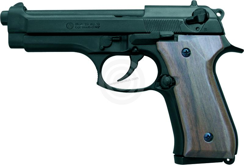 Pistolet KIMAR 92 Auto Bronzé Bois cal.9 mm PA
