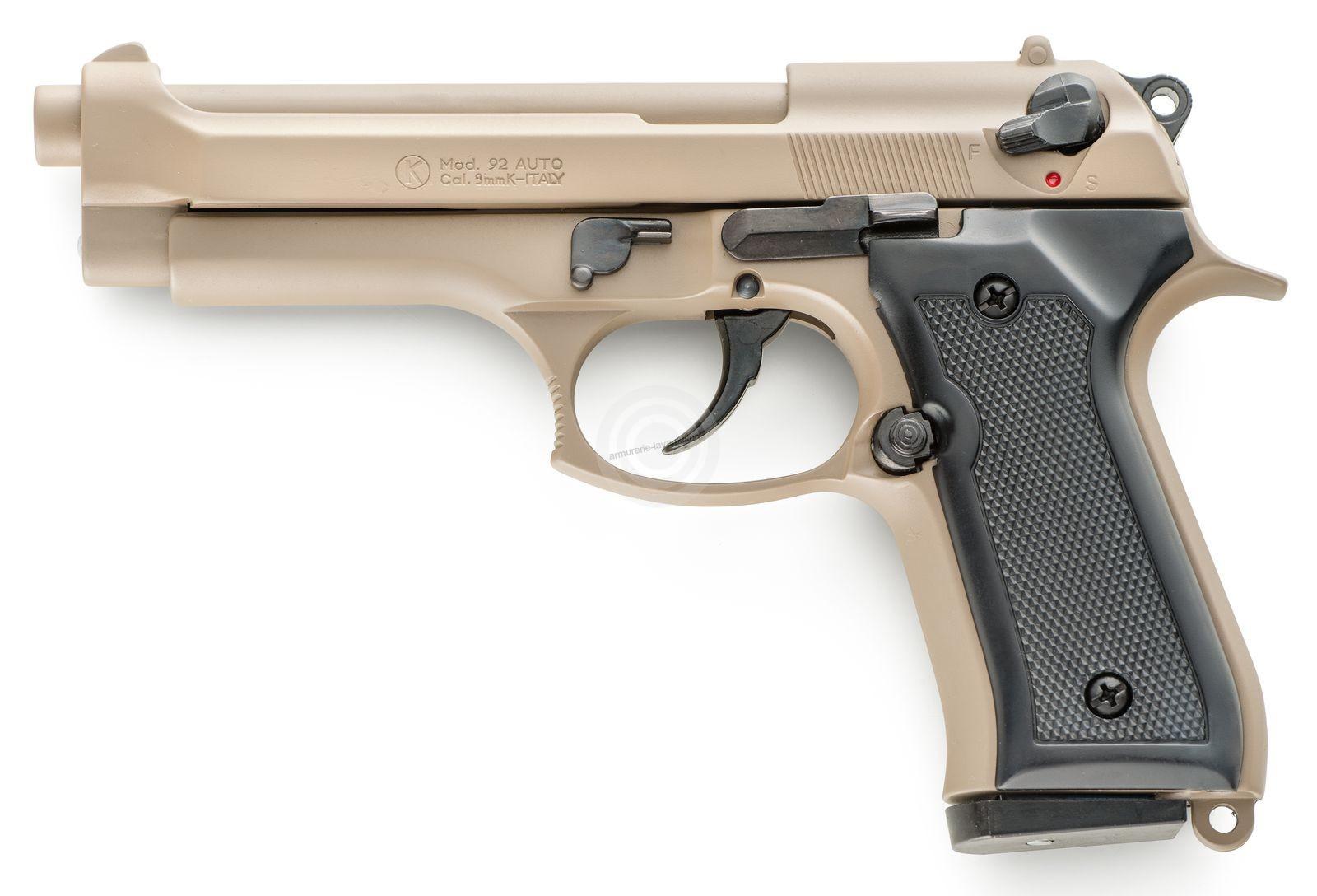 Pistolet d'alarme KIMAR 92 Auto Desert Tan Cal.9mm PA