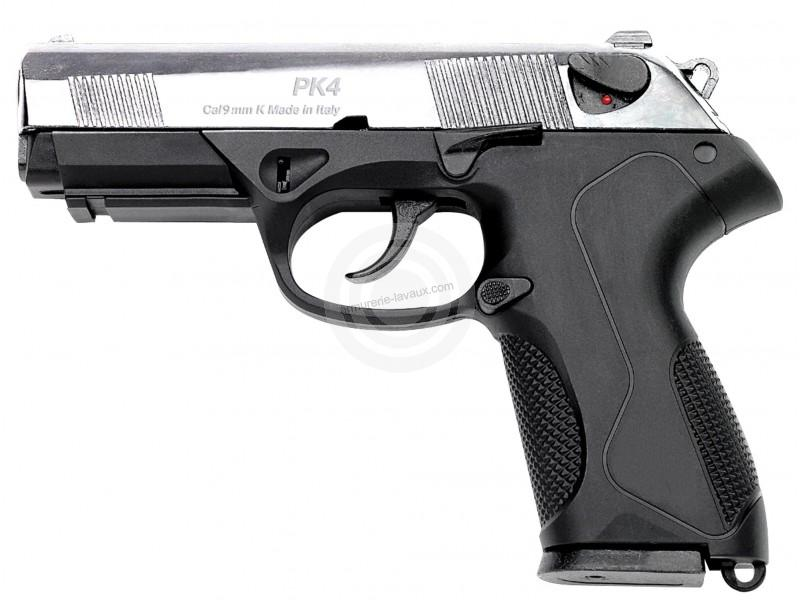 Pistolet d'alarme KIMAR PK4 Chromé Cal.9mm PA