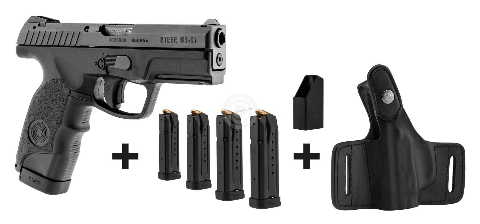 Pistolet STEYR M9-A1 cal.9mm PARA ''Pack 4 chargeurs et holster