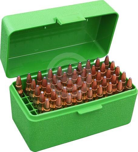 Boite à munitions MTM 50 cartouches carabines (H.63mm) 223 Rem