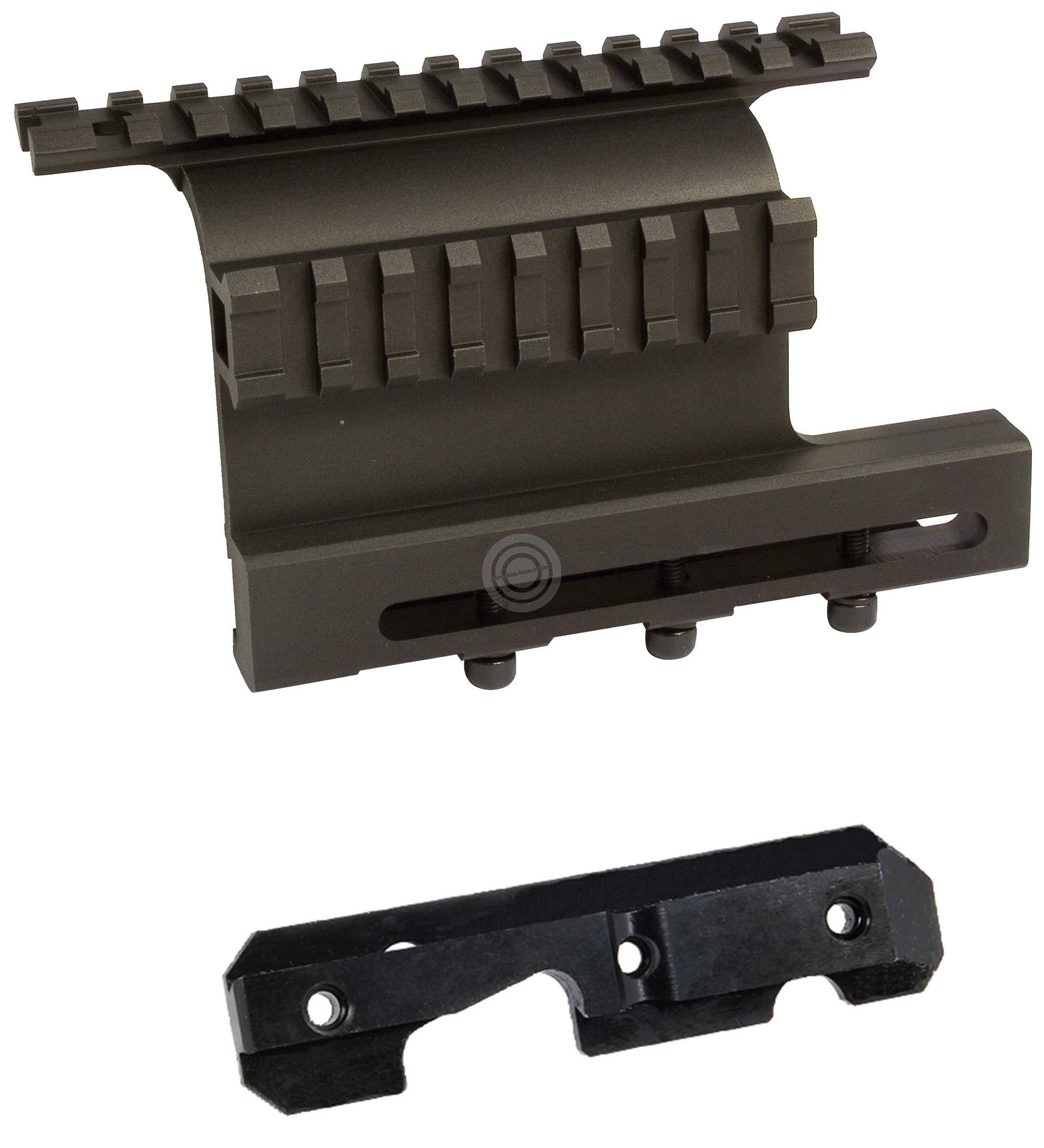 Rail picatinny double montage de lunette sur AK47