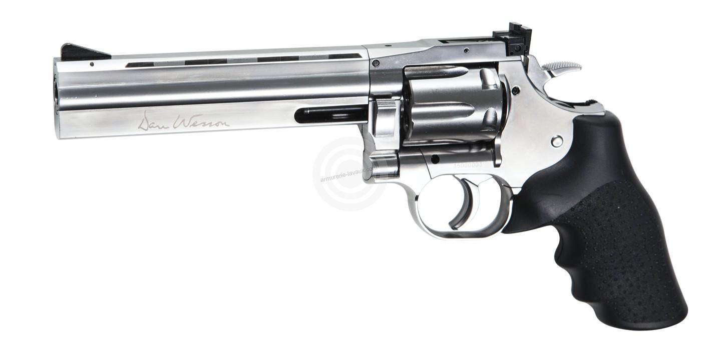 Revolver DAN WESSON 715 Chromé 6'' ASG cal.4,5mm