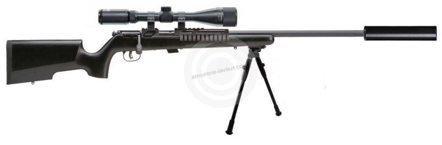 Carabine 22LR SAVAGE MARK II TRR-SR Tactical avec lunette LYNX Varmint 6-24x42 AO ''Kit SNIPER HARRIS''