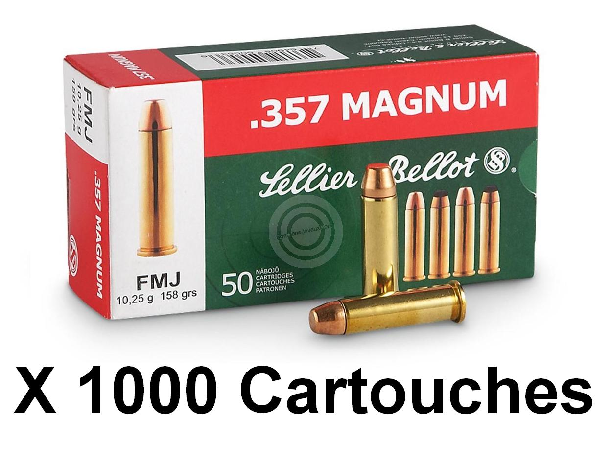 SELLIER BELLOT cal.357 Magnum FMJ /1000 cartouches