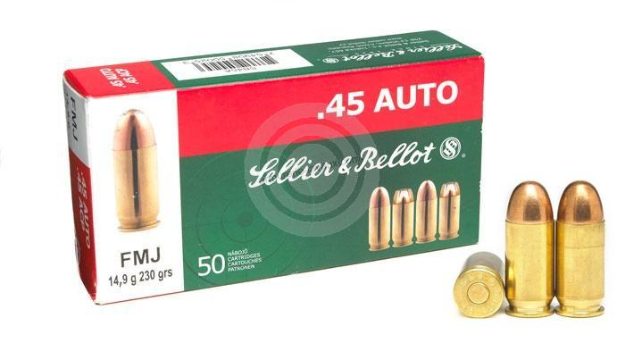 SELLIER BELLOT cal.45 ACP FMJ