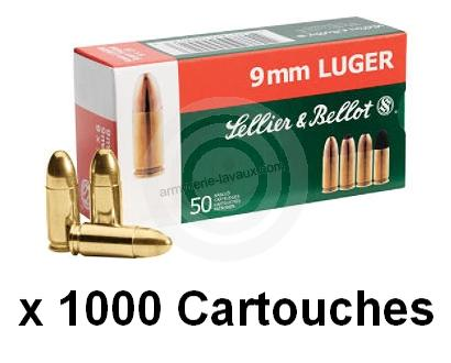 SELLIER BELLOT cal.9 mm PARA FMJ /1000 Cartouches