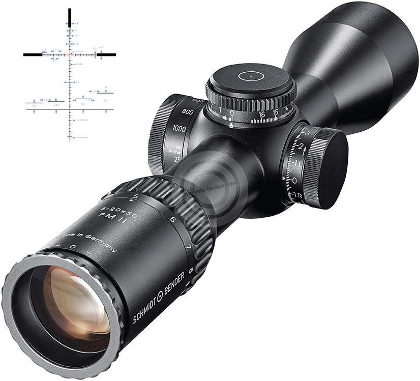 Lunette SCHMIDT & BENDER 5-20x50 PM II Ultra Short ret.P4F